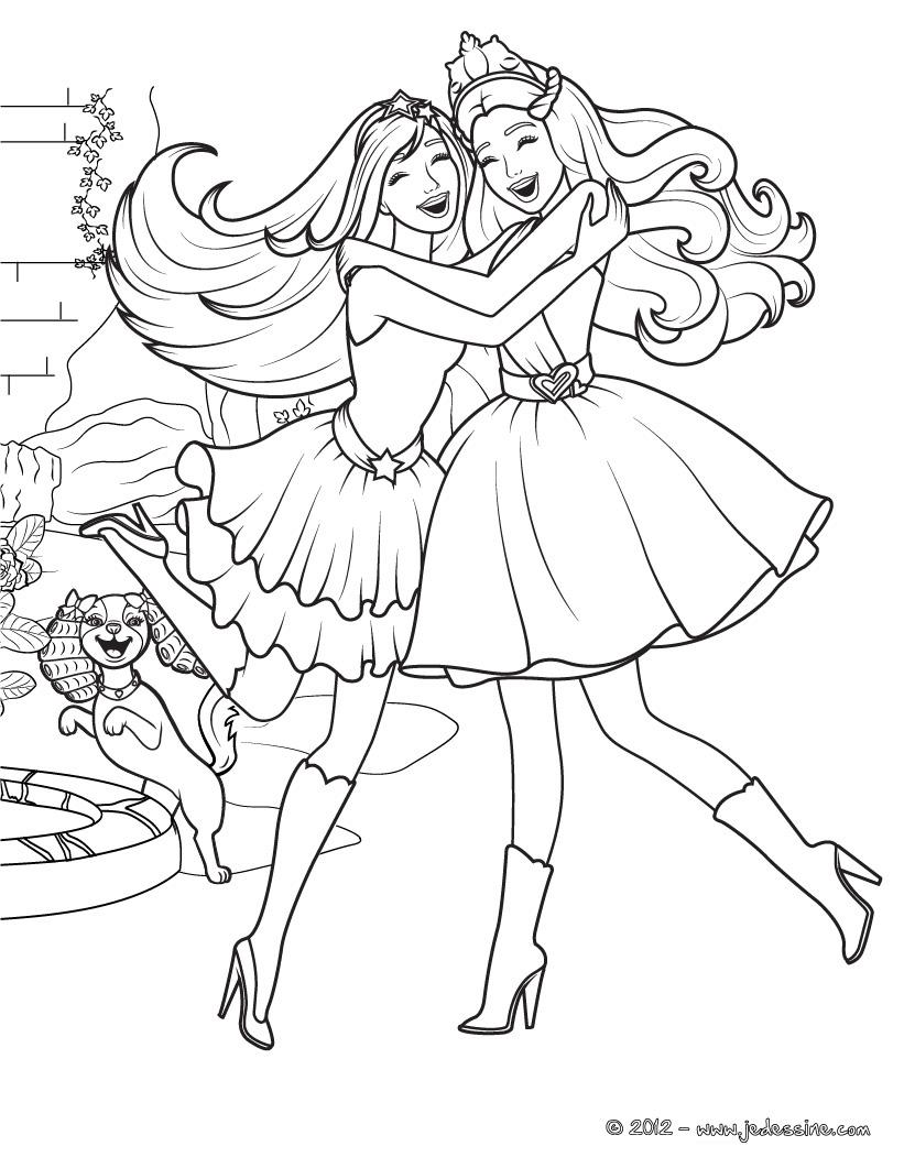 Contemporáneo Barbie Para Colorear Libros Ilustración - Dibujos Para ...