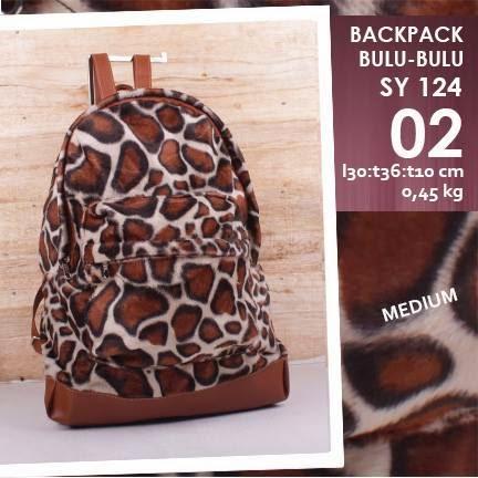 jual online tas backpack mini corak leopard harga murah