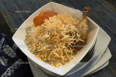 الأرز بالدجاج وصلصة الطماطم