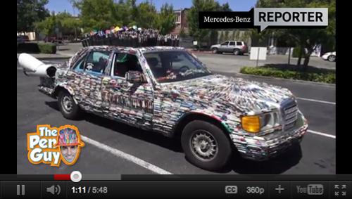 Mercedes Pens Art Car Featured on Mercedes-Benz Reporter - Video by Alex Kahl