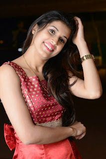 Sabha Picture Gallery in Red Dress at Bunny n Cherry Audio Launch Function