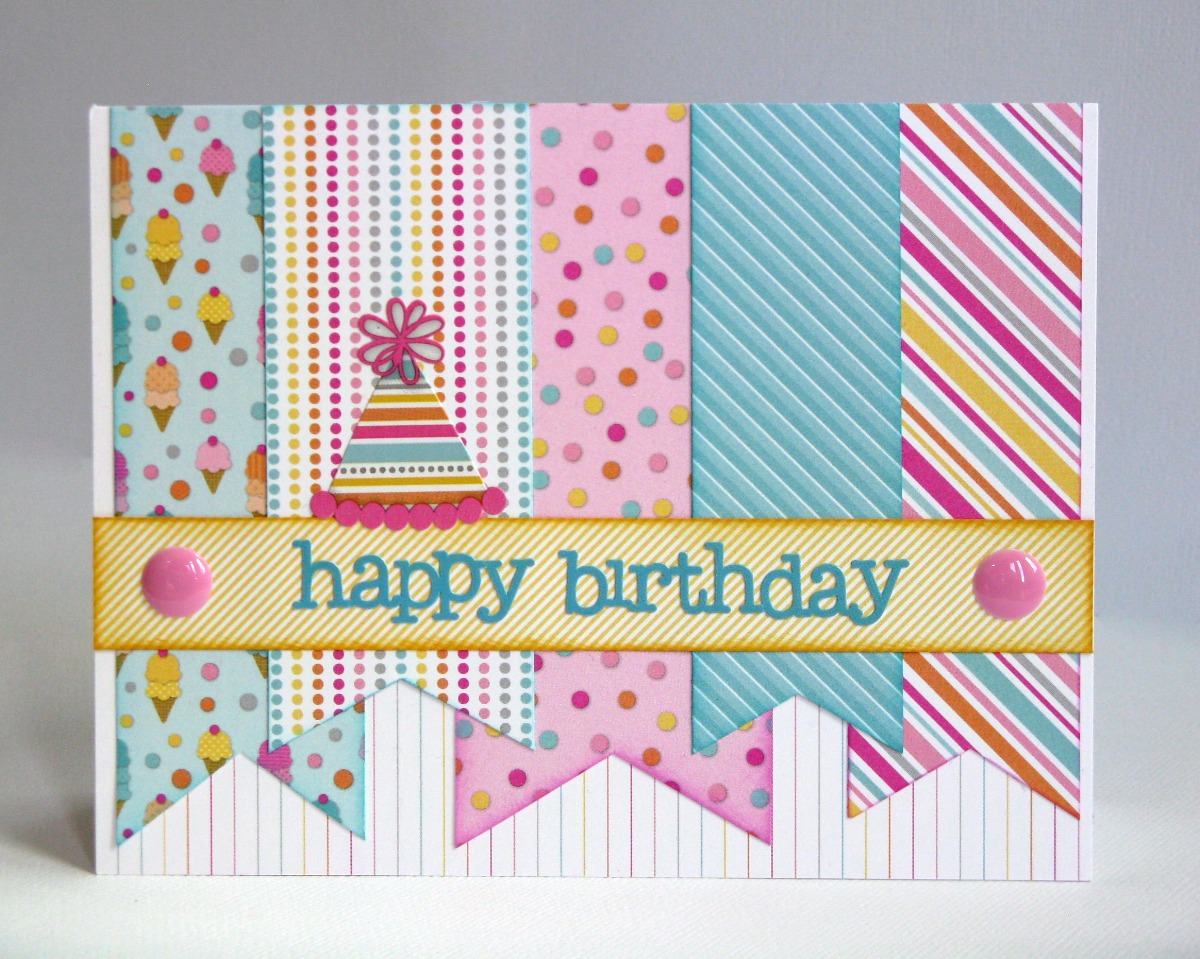 Snippets by mendi some more doodlebug sugar shoppe birthday cards doodlebug design inc sugar shoppe banner party hat birthday card for kids teen girls kristyandbryce Gallery