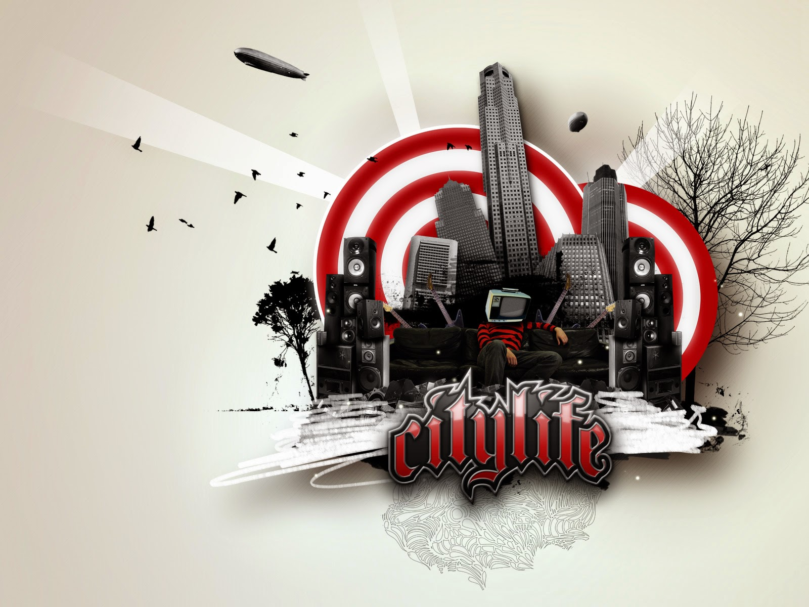 Abstract Citylife hd wallpaper