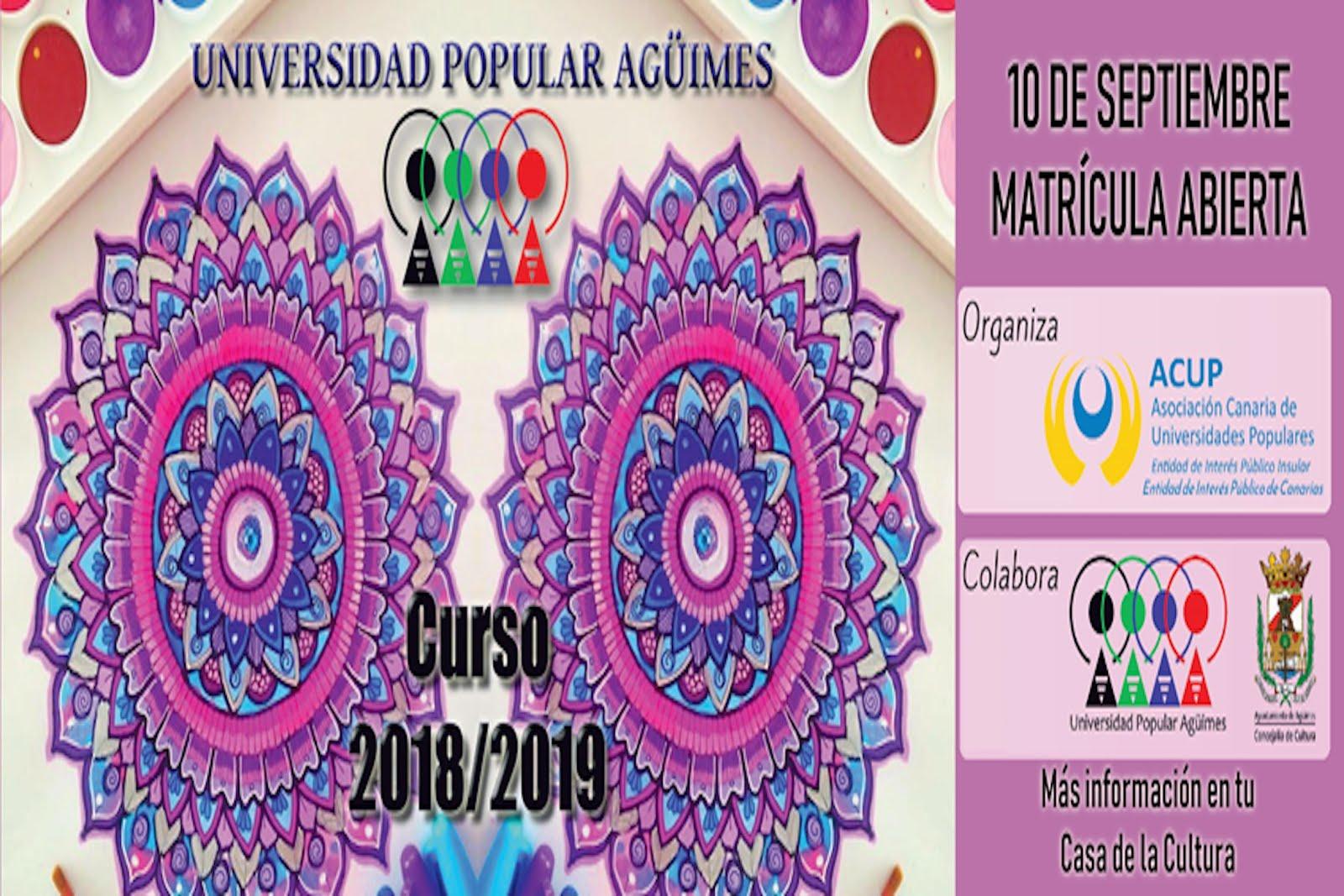 Curso 2018-2019 Universidad Popular de Agüimes