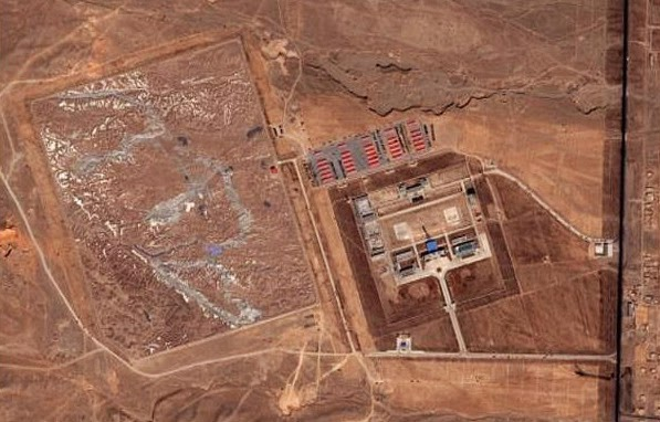 Remote Chinese village of Huangyangtan which hosts the strangest military installation (it may even be a UFO base) ever spotted by the Google Earth Community