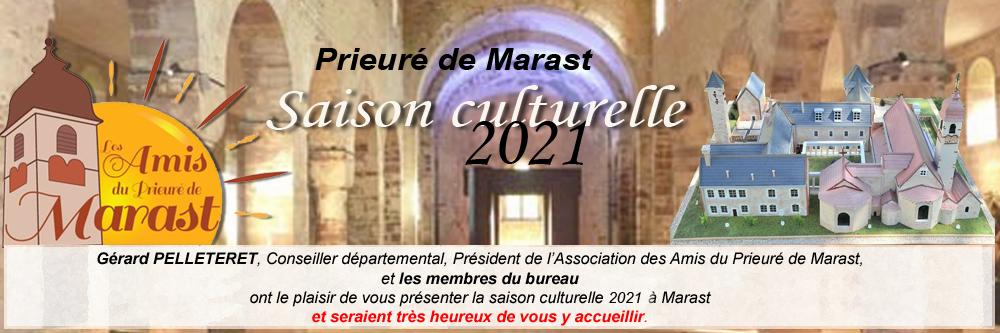 Prieuré de Marast : Saison culturelle 2021