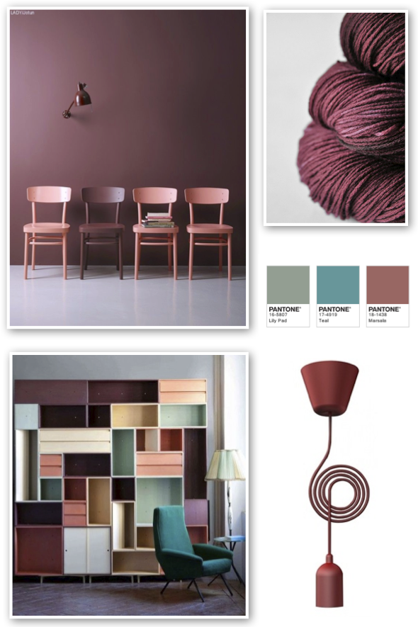 Red address: Marsala -Color of the year 2015 per Pantone