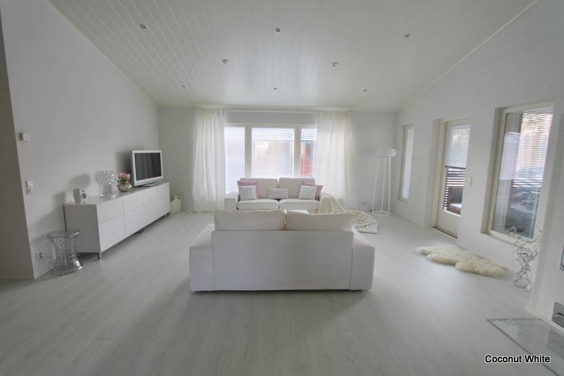 Uusi valkoinen olohuone  Coconut White