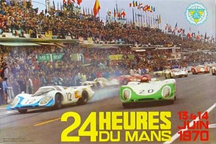 Affiche officielle des 24 Heures du Mans 1970
