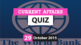 Current Affairs Quiz 29 October 2015