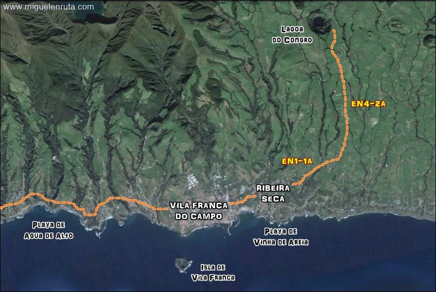 Vila-Franca-do-Campo-Mapa