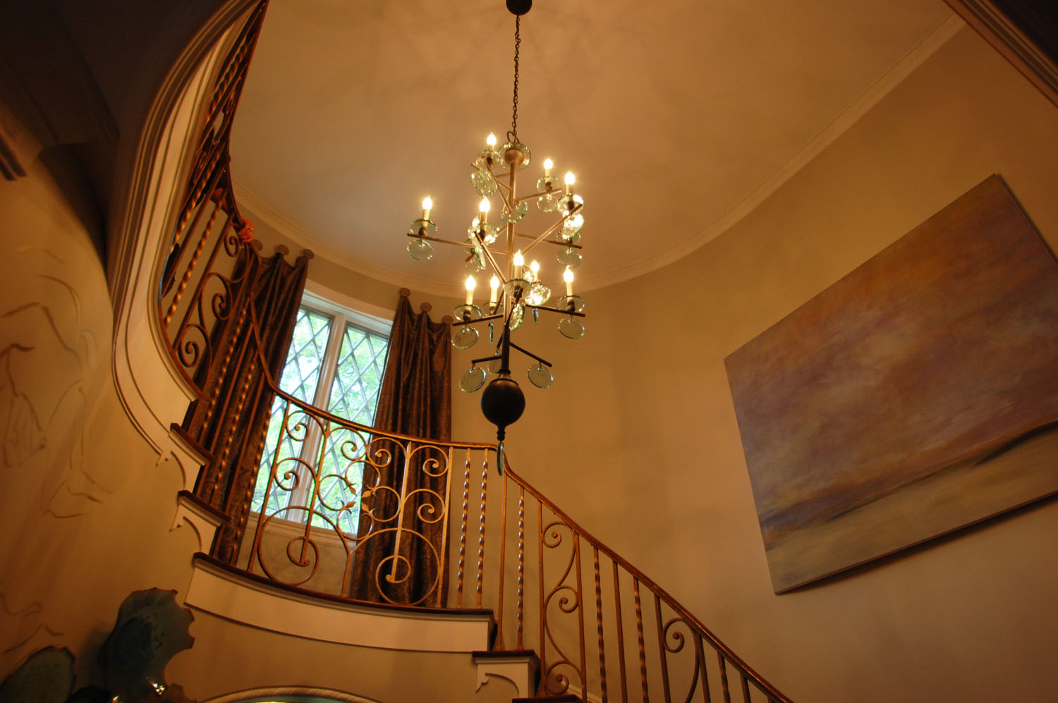 Grand Hall And Stairs By Jessica Corbin Mahaney Of Kittles Design Studio