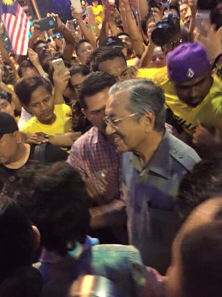 Tun Mahathir turun Bersih 4.0