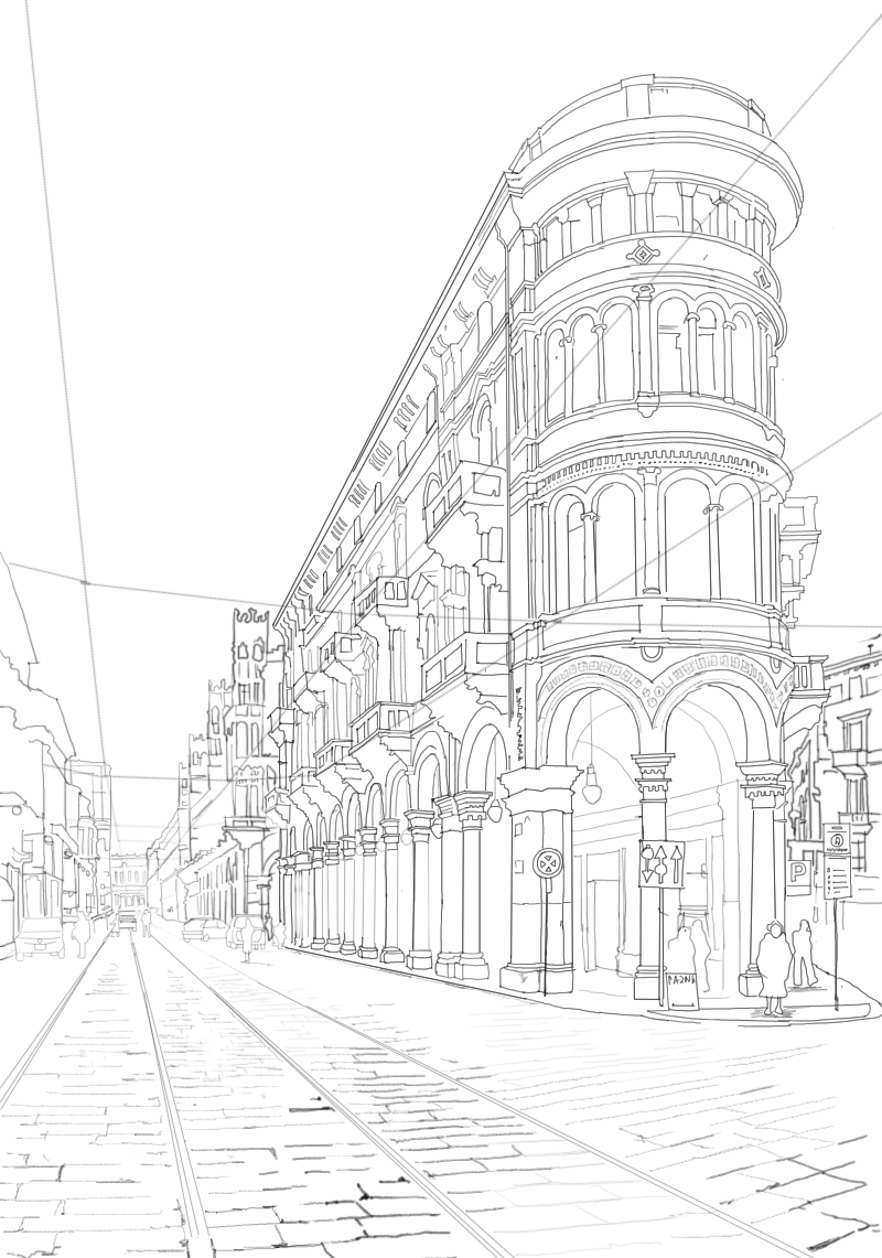 how to draw the street of venus