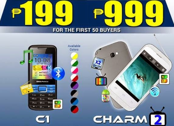 SKK Mobile Charm 2 For Only Php999 and C1 For Only Php199 this August 24
