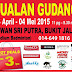 23 April - 4 May 2015 Jualan Gudang