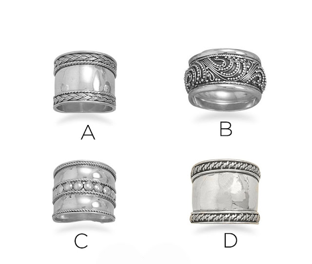 Sterling silver bali rings by BLK AND NOIR
