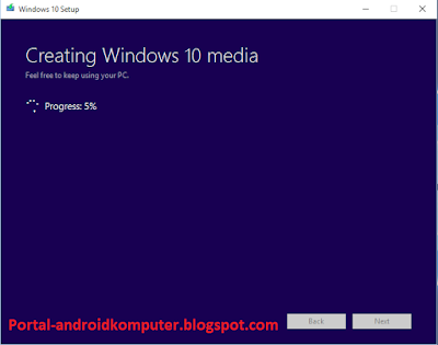creating windows 10