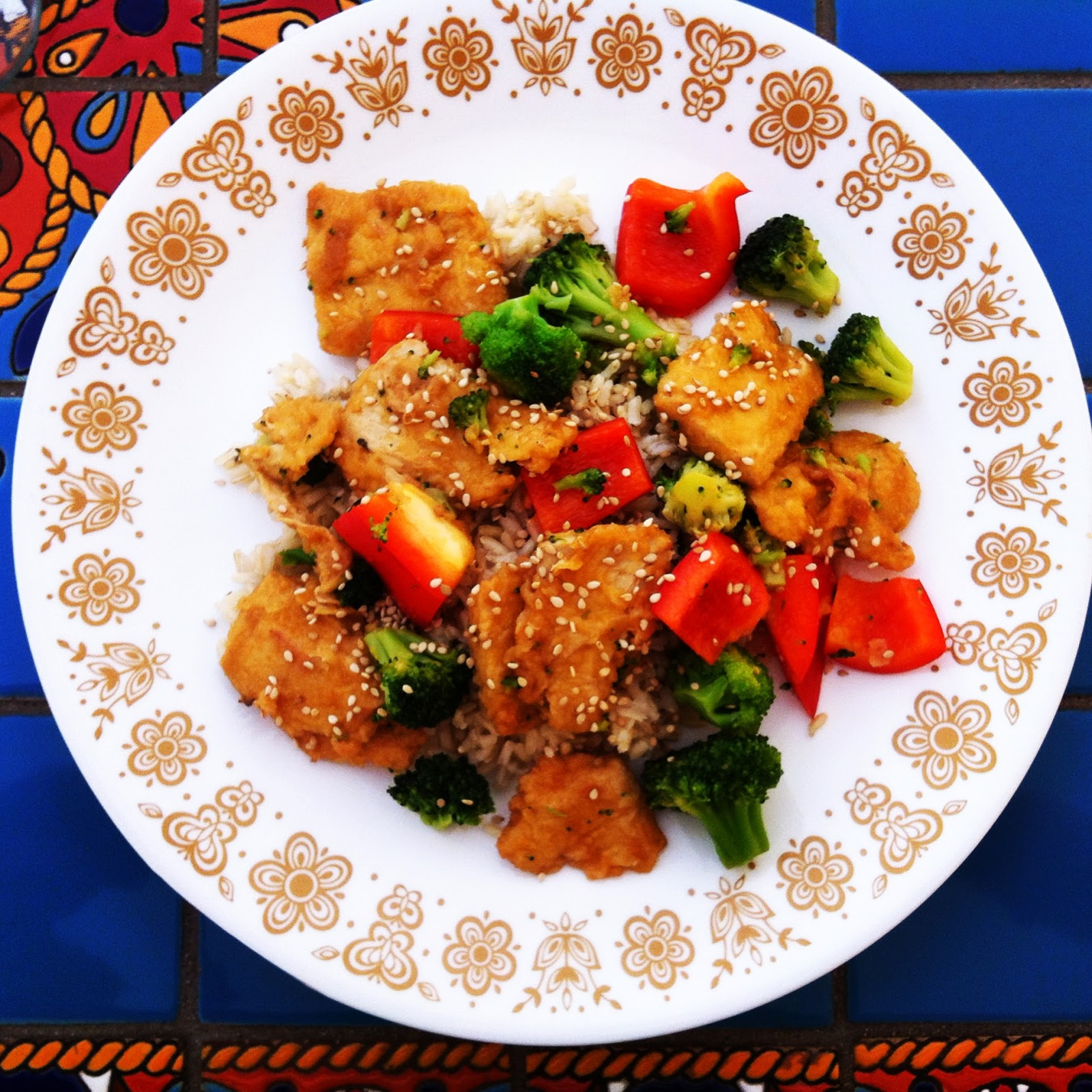 Vegetarian Vegan Gardein Mandarin Orange Crispy Chicken
