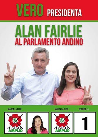 Alan Fairlie, candidato al Parlamento Andino de FRENTE AMPLIO