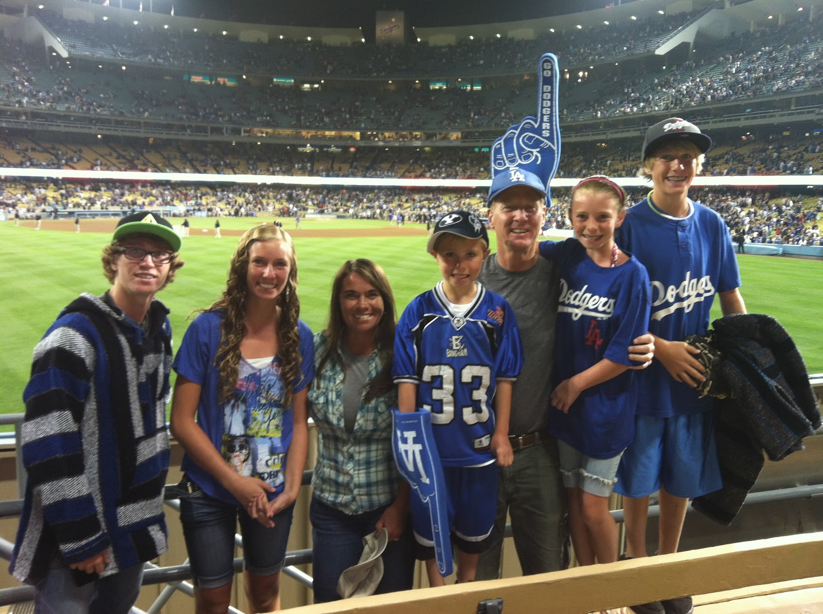 The John and Jer gang: Dodgers game