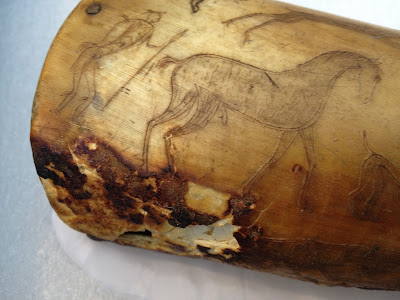 Art conservation of organic objects, powder horn, museum collection care,