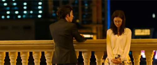 Jang Hyuk 장혁 as Lee Gun and Jang Na Ra 장나라 as Kim Mi Young stand at a railing.