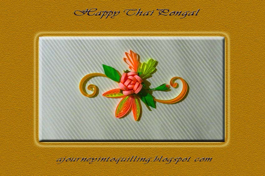 A journey into quilling paper crafting a quilled greeting for a quilled greeting for thai pongal m4hsunfo
