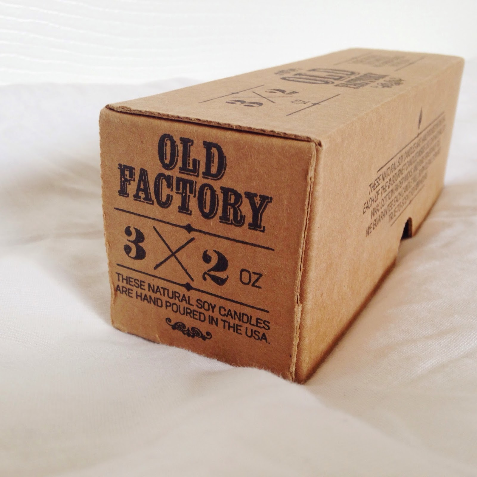 Old Factory Candle Review: Coffee Shop scented candles in their adorable packaging