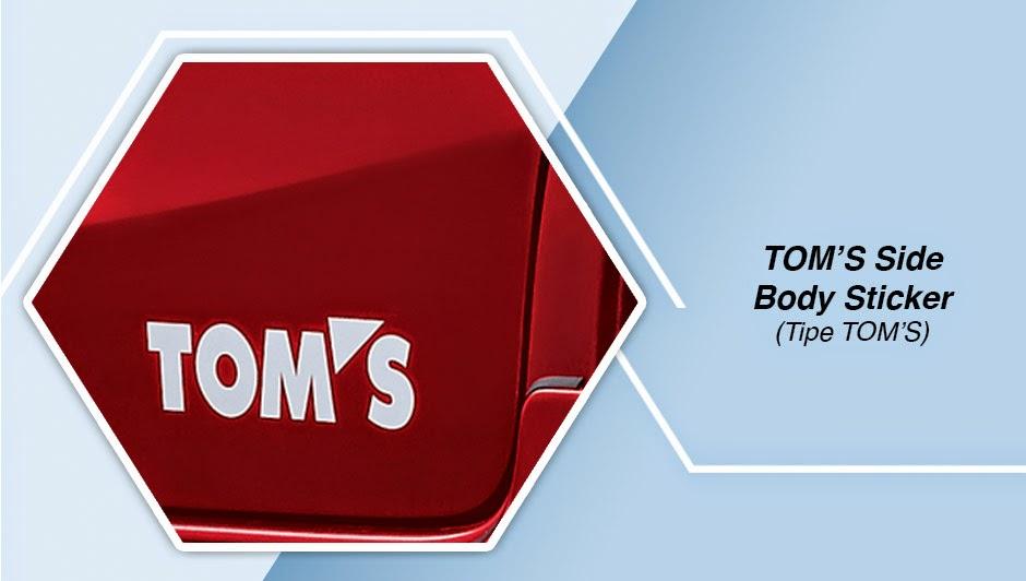 TOM'S Side Body Sticker (Tipe TOM'S)