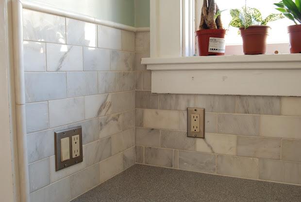 Home Depot Marble Subway Tile Kitchen Backsplash