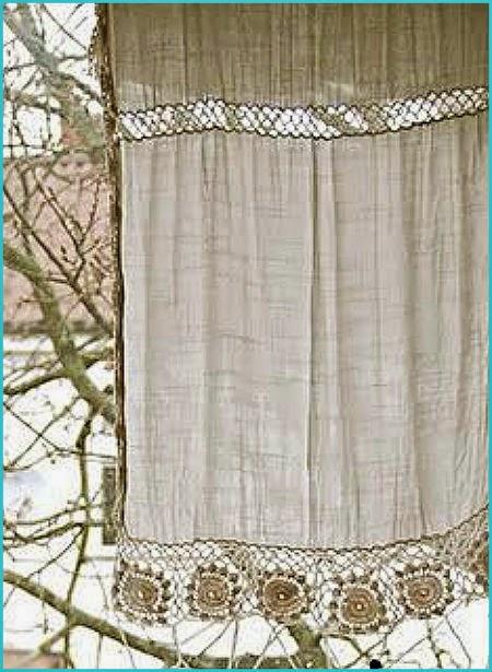 Visillos crochet y cortinas - Telas rusticas para cortinas ...