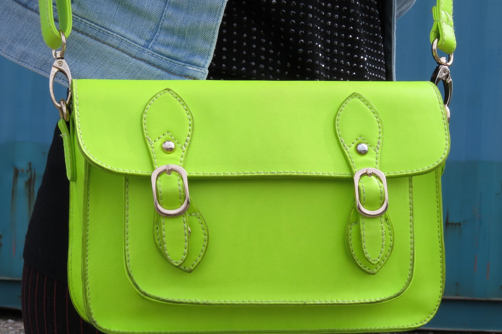 neon crossbody bag