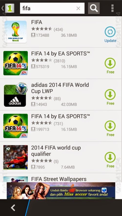 FIFA on 1mobile