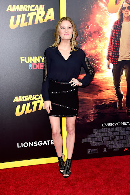 "Actress, Model @ Ashley Hinshaw - premiere of Lionsgate's ""American Ultra"" in Los Angeles"
