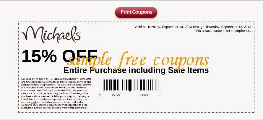 Michaels in store coupon / Claritin coupons