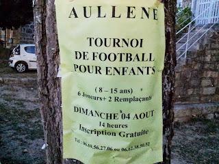 Aullène en Alta Rocca en Corse du sud : tournoi de foot des enfants