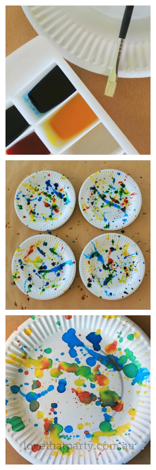 Art party ideas and inspiration, how to, diy, art party paper plates