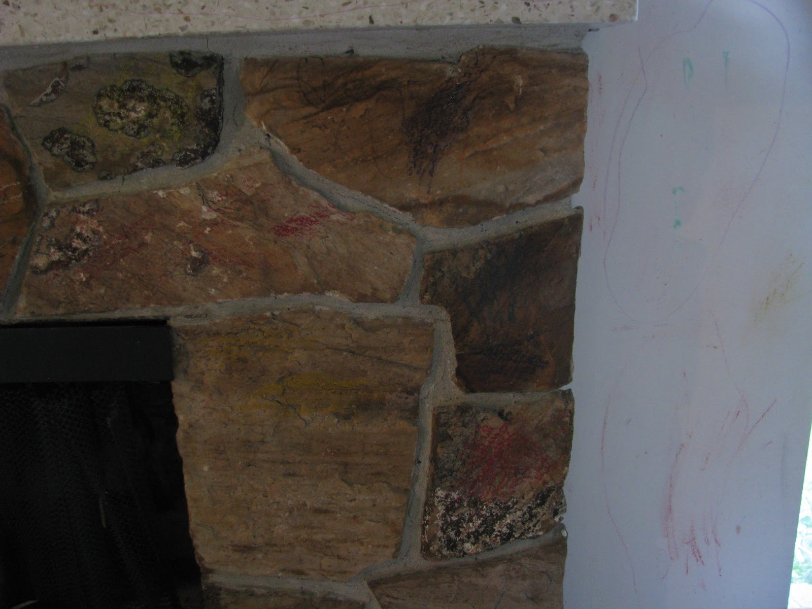 joys of home painting a rock fireplace
