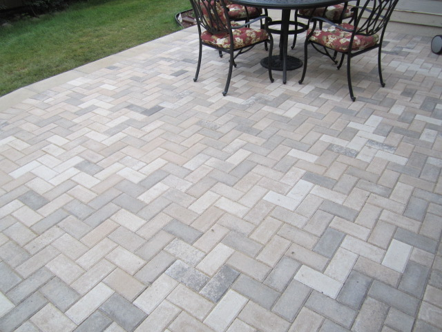 ... The Base Material Was Set At The Proper Height, We Spread The Bedding  Course Material For Screeding. After Screeding The Entire Paver Patio, The  Pavers, ...
