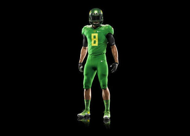 Oregon goes all green for College Football Playoff.