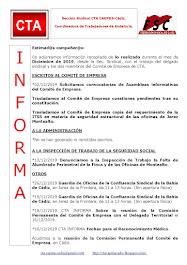 C.T.A. INFORMA, LO REALIZADO EN DICIEMBRE DE 2019