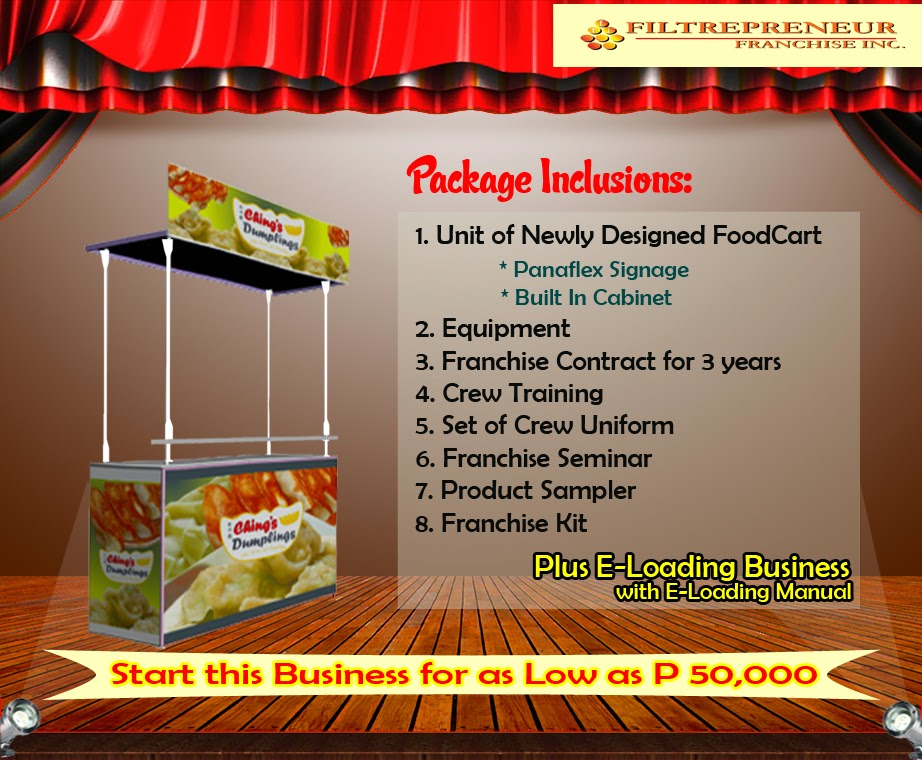 Foodcart For Franchise - A Dumplings Food Concept Offered in the Philippines.