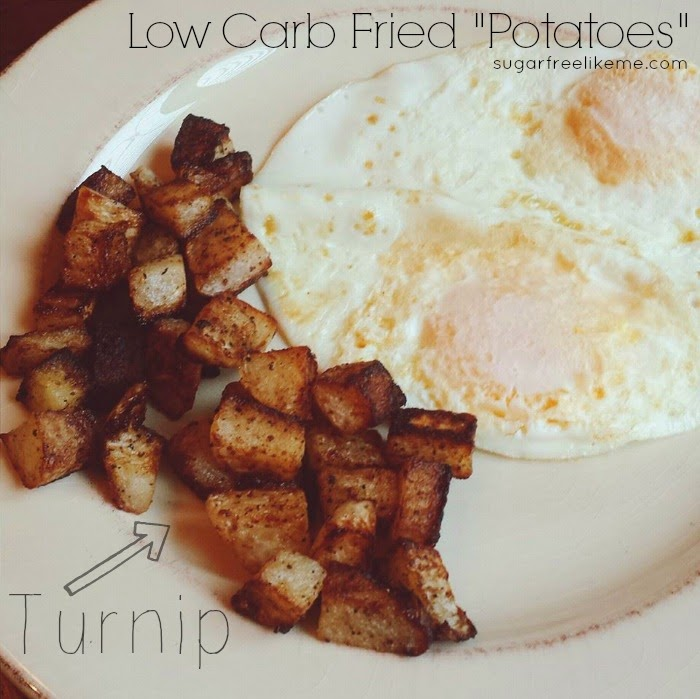 "Low Carb Fried Turnip ""Potatoes"""