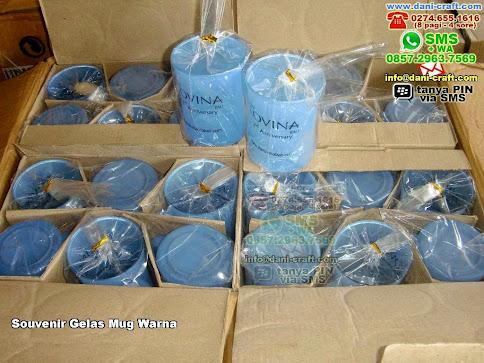 Souvenir Gelas Mug Warna Gelas Beling Singaraja