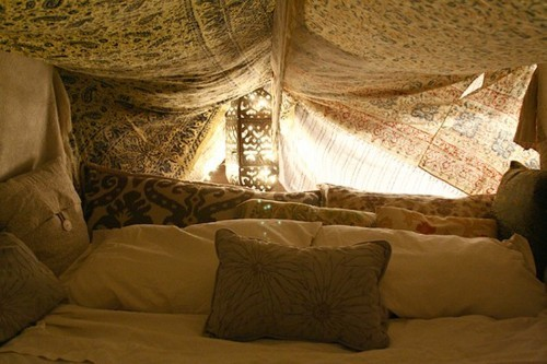 Bohemian pages in tents for How to make a tent in your living room