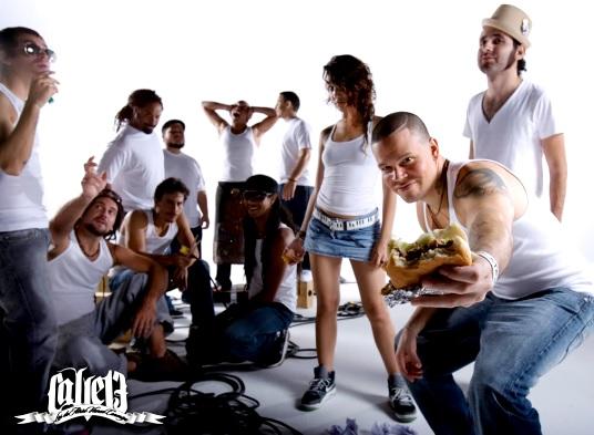 Calle 13 en sesión de foto