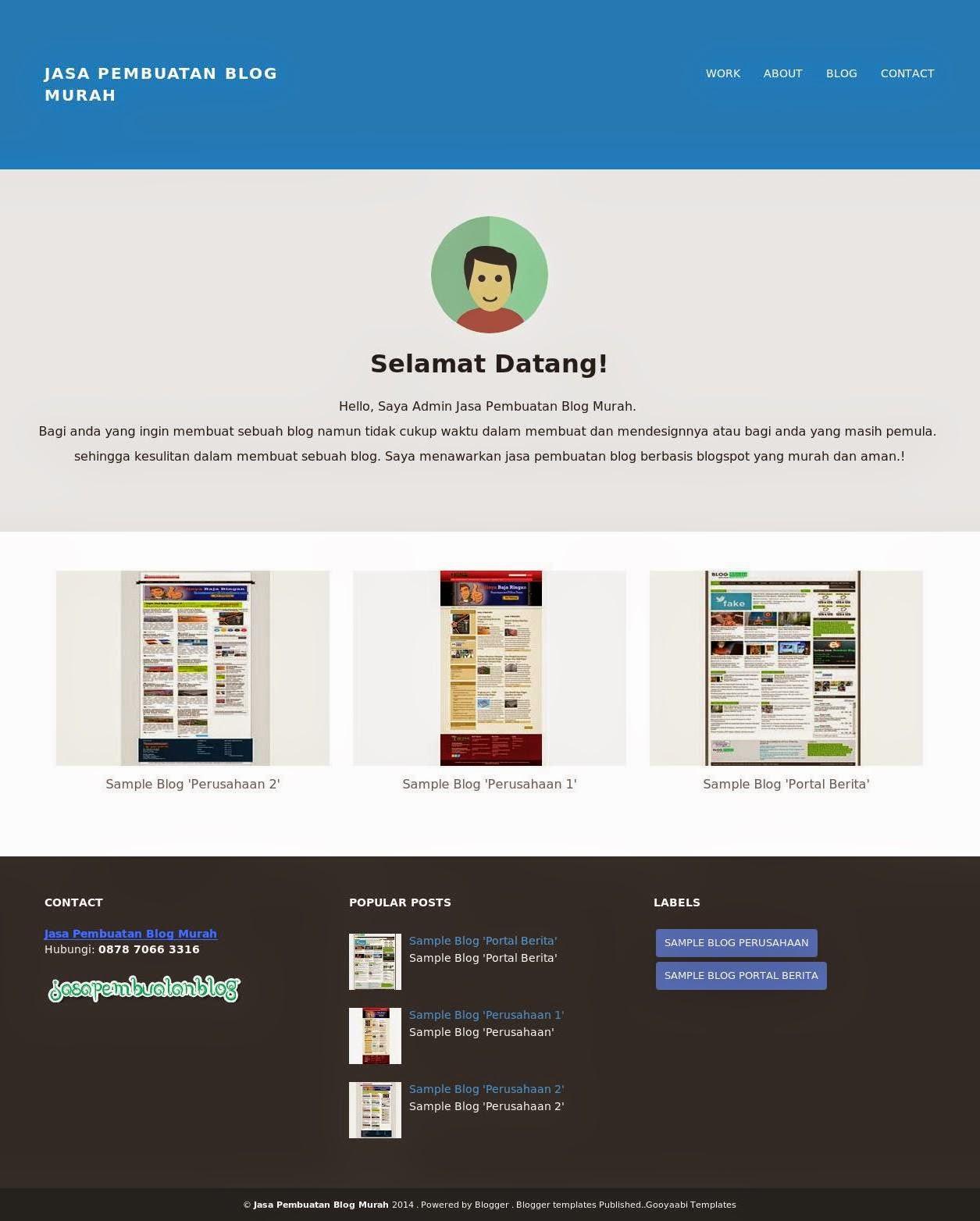 Sample Blog 'Portfolio'