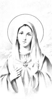 Sagrado corazón de María para colorear
