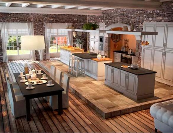 Muebles y decoración de interiores: cocinas rústicas francesas